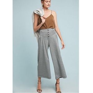 ANTHROPOLOGIE Maeve Houndstooth Wide Leg Pants